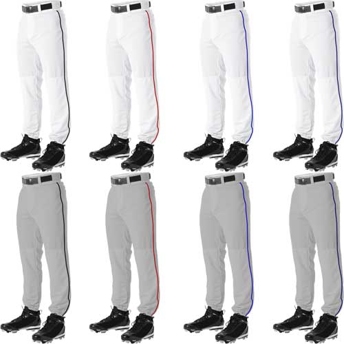 a5668fbce49 Alleson Athletic PLPY Youth Baseball Pants w. Contrast Piping