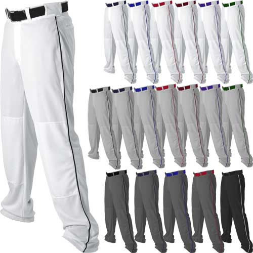 f8d02d0c255 Alleson Athletic Open Bottom Youth Baseball Pants w. Side Braid