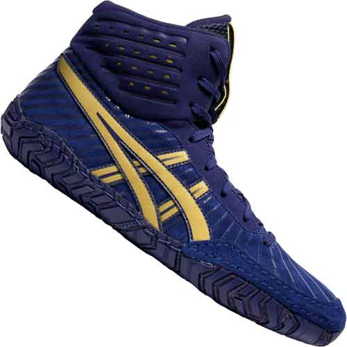 ASICS Aggressor 4 Wrestling Shoes Blue
