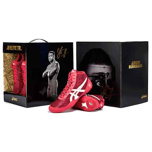 0c1174e05516 Jordan Burroughs  ASICS All I See Is Gold JB Elite Training Wrestling Shoes  ...