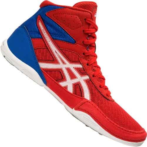 meilleures baskets f74cd 37963 Asics Matflex 6 Wrestling Shoes Red White Blue