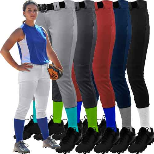 CHAMPRO BP11 WOMENS LOW-RISE SOFTBALL PANTS