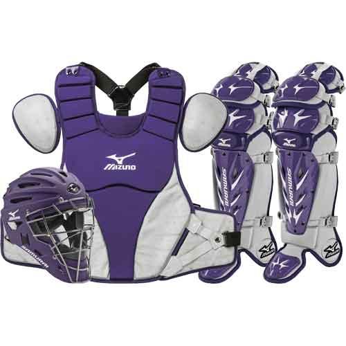 ... Mizuno Samurai Baseball Catchers Gear Set - Purple ... 25429c03fb