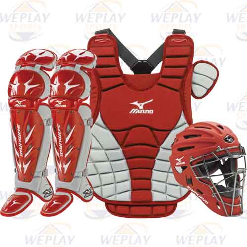 Mizuno Samurai Womens Fastpitch Catchers Gear Set - Red ... 57be0e5780
