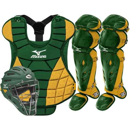 ... Mizuno Samurai Womens Fastpitch Catchers Gear Set - Green Gold ... 46483383a3