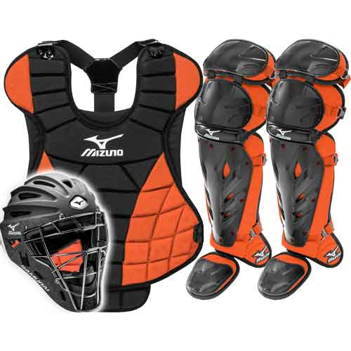 ... Mizuno Samurai Womens Fastpitch Catchers Gear Set - Orange ... a633319c58