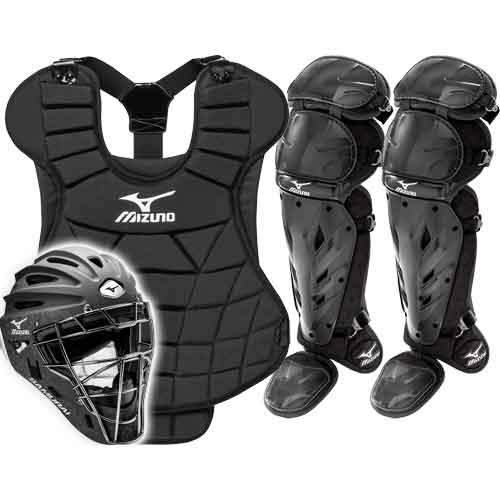 ... Mizuno Samurai Girls Fastpitch Catchers Gear Set - Black ... c63b5423e2
