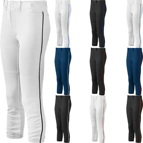 Mizuno Select Belted Low Rise Womens Piped Fastpitch Pants 88892cfd7