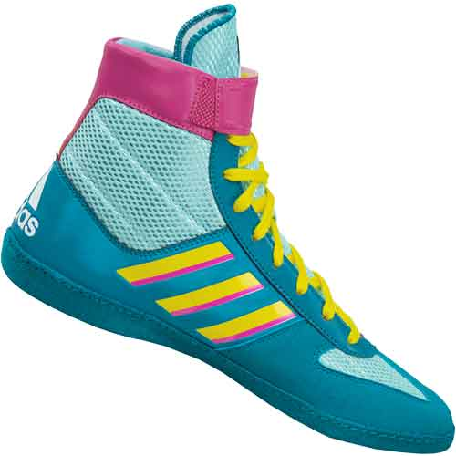 adidas Combat Speed 5 Wrestling Shoes Aqua Teal