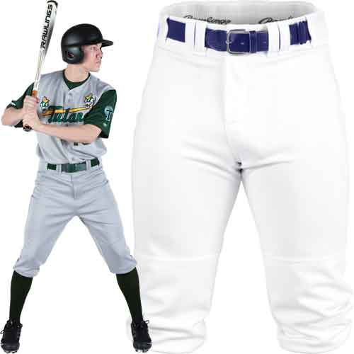 Rawlings Premium Knee High Fit Knicker Youth Baseball Pants With Custom Piping
