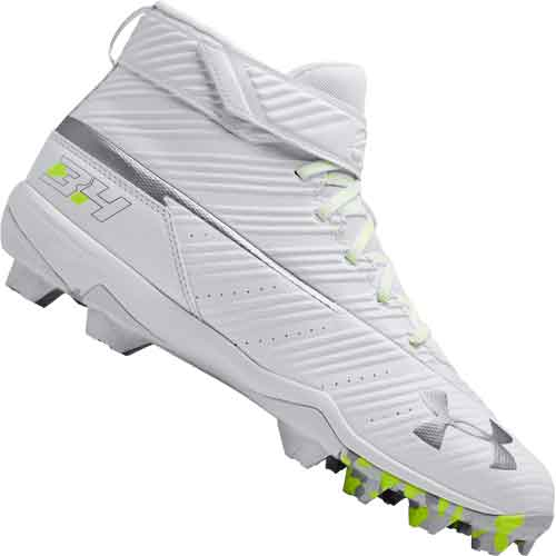 26fe43180bf7 ... Under Armour Harper 3 RM Baseball Cleats - White ...