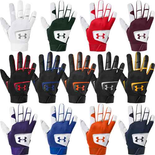 Under Armour UA Clean Up Culture Red//White//Blue Batting Gloves 1299534-103