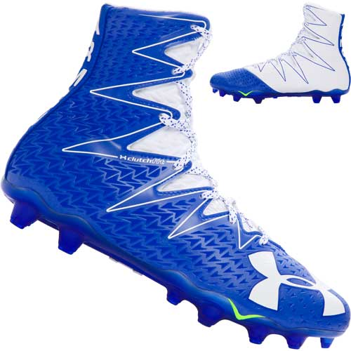Under Armour Highlight Mens NEW 1269693-412 Football Cleats Blue White Size 9