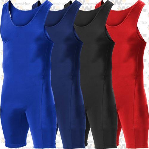 Alleson Athletic Kids Wrestling Singlet - Available in 4 Solid Colors