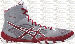Asics Cael 7 Wrestling Shoes - Gray / Burgundy