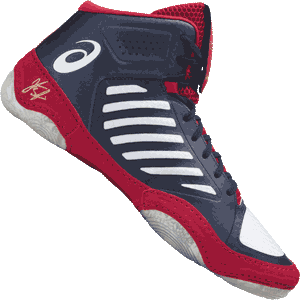 Asics JB Elite 3 Wrestling Shoes - Indigo Blue / White / Classic Red