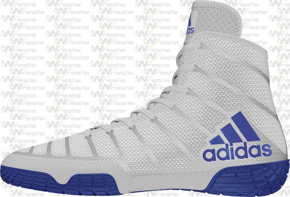 análisis ama de casa Acurrucarse  adidas adiZero Varner Wrestling Shoes - Gray / Blue