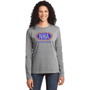 NHA Ladies Long Sleeve Core Cotton T