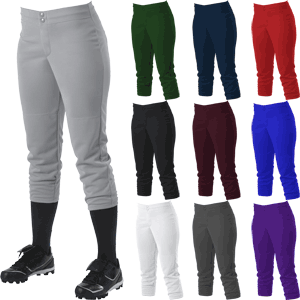 Alleson Athletic 605PLW No Belt Mid-Calf Length Fastpitch Softball Pants