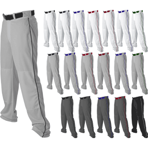 Alleson Athletic Open Bottom Youth Baseball Pants w. Side Braid