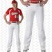 Alleson Athletic Open Bottom Womens Fastpitch Softball Pants - White