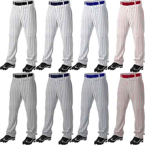 Alleson Athletic Open Bottom Youth Pinstripe Baseball Pants