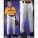 Alleson Athletic PLPY Youth Baseball Pants w. Contrast Piping - White / Black