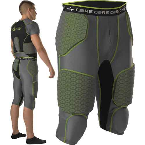 Alleson Athletic Core Hexagon Integrated 7 Pad Football Girdle