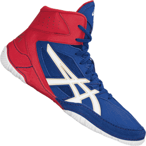 Asics Cael V8.0 Wrestling Shoes - Blue / Red
