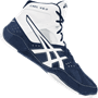Asics Cael V6.0 Wrestling Shoes - White Navy Blue