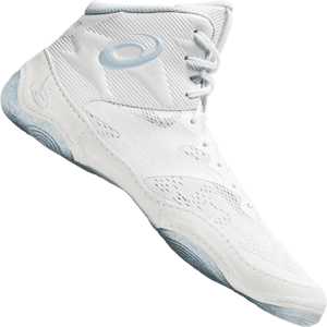 Asics JB Elite IV Wrestling Shoes - White / Soft Sky