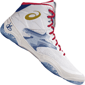 Asics JB Elite IV Wrestling Shoes - Red White Blue