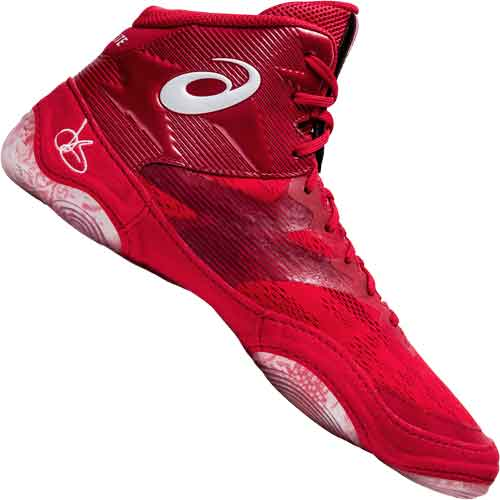 Asics JB Elite 4 Wrestling Shoes - Red