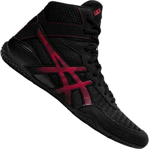 Asics Matcontrol 2 Wrestling Shoes - Black Red