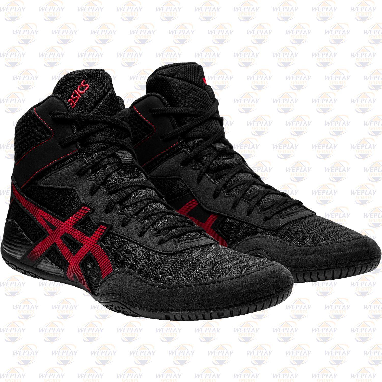 Asics Matcontrol 2 Wrestling Shoes - Black Red