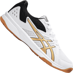Asics Upcourt 3 Womens Volleyball Shoes - White / Pure Gold