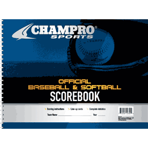 Champro Sports Baseball Softball Scorebook