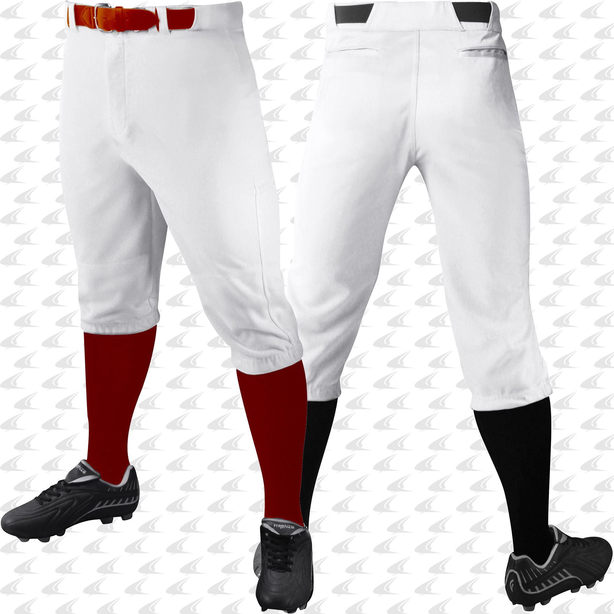 NEW Champro Youth Triple Crown Knicker Pinstripe Baseball Softball Pants BPPINK
