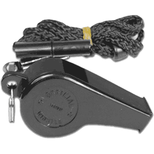 Champro Sports Plastic Whistle w. Lanyard