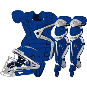 Easton Mako Baseball Catchers Gear Set - Royal Blue Intermediate