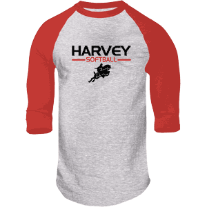 Harvey Softball Classic Heathered 3/4 Sleeve Shirt