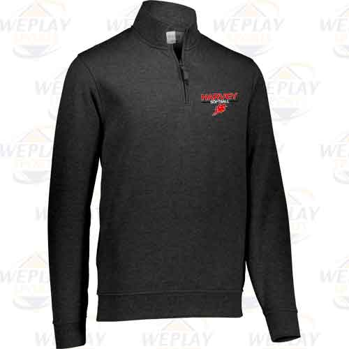 Harvey Softball Quarter Zip Fleece Pullover Sweatshirt