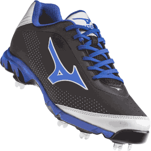 Mizuno 9 Spike Vapor Elite 7 Metal Baseball Cleats - Royal Blue