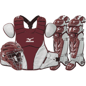 Mizuno Samurai Baseball Catchers Gear Set - Maroon