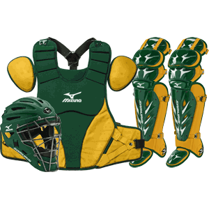 Mizuno Samurai Baseball Catchers Gear Set - Green Gold
