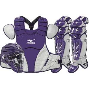 Mizuno Samurai Baseball Catchers Gear Set - Purple
