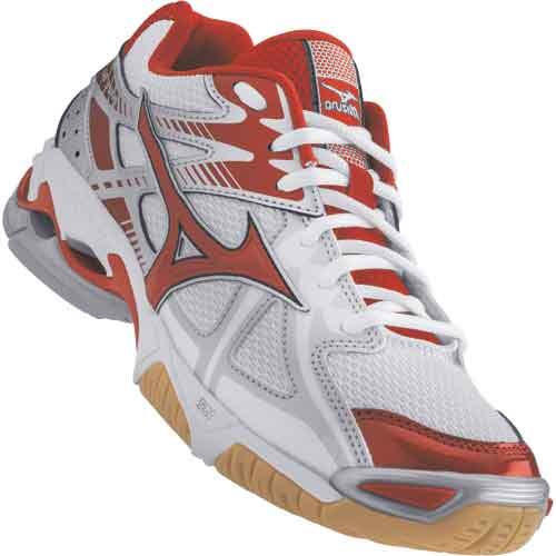 Mizuno Lightning Bolt 4 Womens Volleyball Shoes - Red
