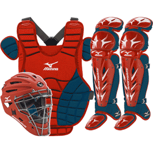 Mizuno Samurai Womens Fastpitch Catchers Gear Set - Red Navy Blue