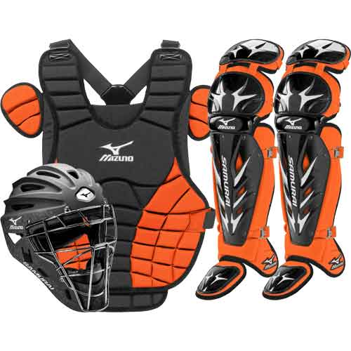 Mizuno Samurai Womens Fastpitch Catchers Gear Set - Orange