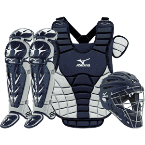 Mizuno Samurai Girls Fastpitch Catchers Gear Set - Navy Blue
